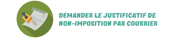 justificatif non-imposition courrier
