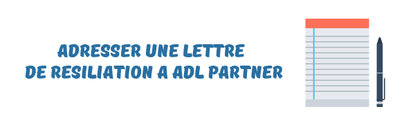 ADL Partner lettre resiliation