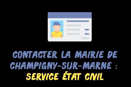 contacter état civil Champigny-sur-Marne