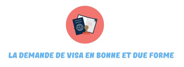 demande visa chine