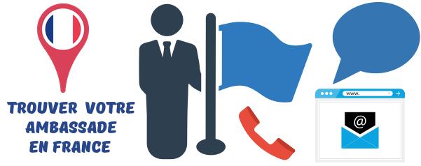 contact ambassade etrangere france