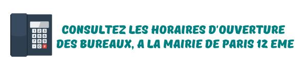 contact mairie paris 12