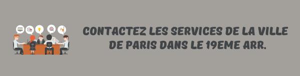 contacter mairie 19eme paris