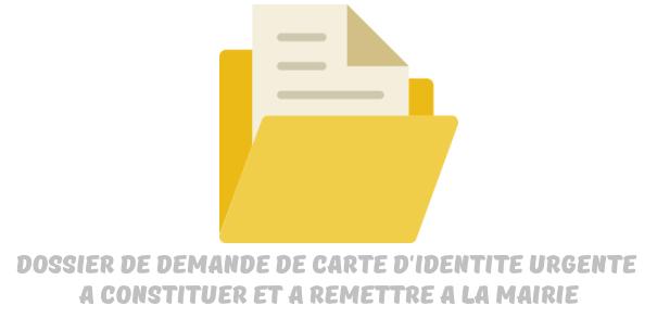 demande carte identite urgence