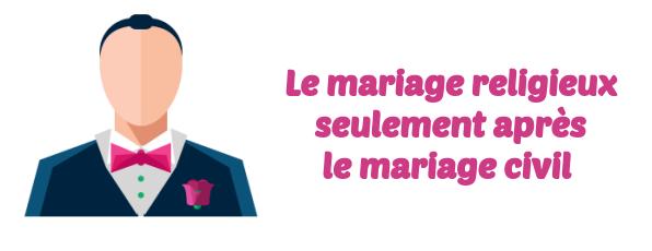 mariage religieux - Demarche Apres Mariage