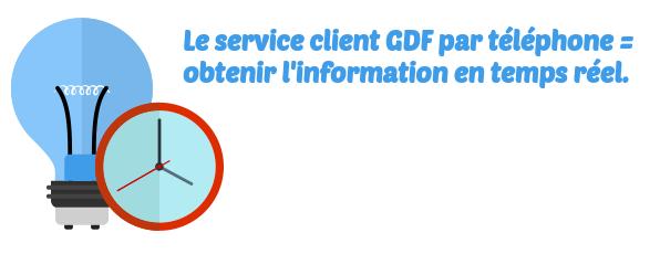 service client GDF