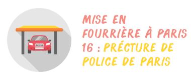 fourrière préfecture paris 16
