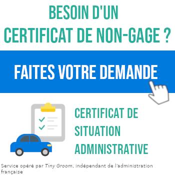 Certificat De Non Gage Pour Une Caravane Comment Et Ou L Obtenir