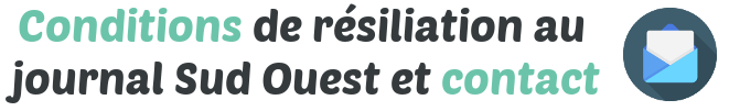 conditions resiliation sud ouest contact