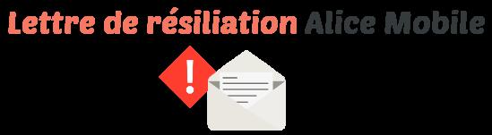 lettre resiliation alice mobile
