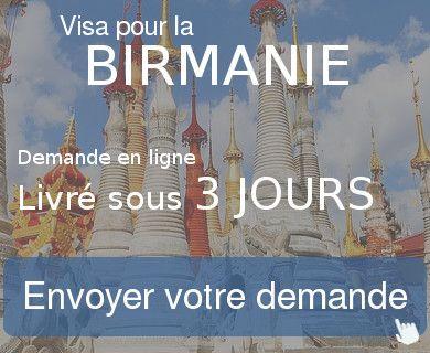 demande visa birmanie
