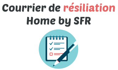 courrier resiliation home by sfr