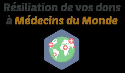 resiliation dons medecins du monde