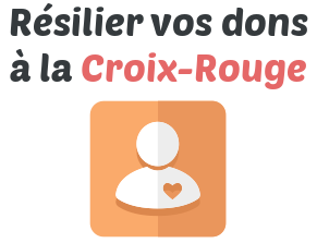 resilier dons croix rouge