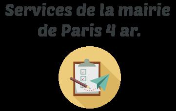 service mairie paris 4 ar