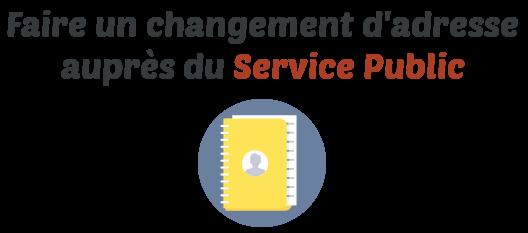 changement adresse service public