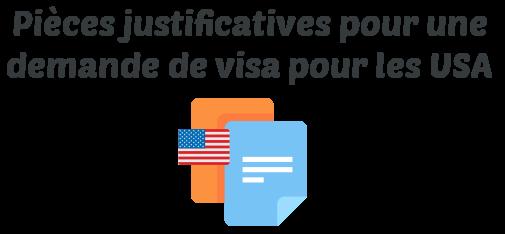 piece justificative visa usa