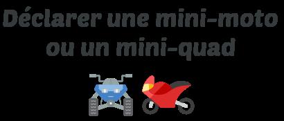declaration mini moto mini quad