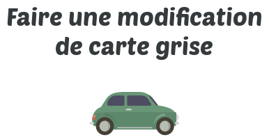 modification carte grise