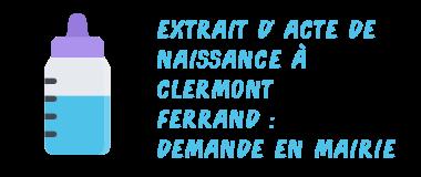 demande mairie clermont-ferrand acte naissance