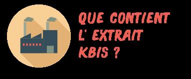 kbis contenu
