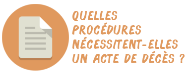 procédures acte décès