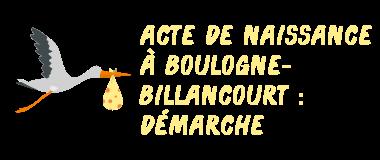 acte naissance boulogne-billancourt