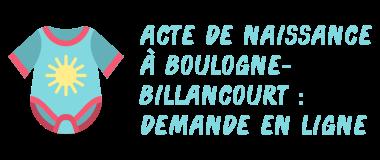 acte naissance boulogne-billancourt internet