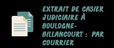 casier judiciaire boulogne-billancourt courrier