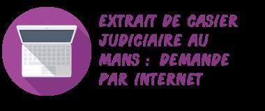 casier judiciaire le mans internet