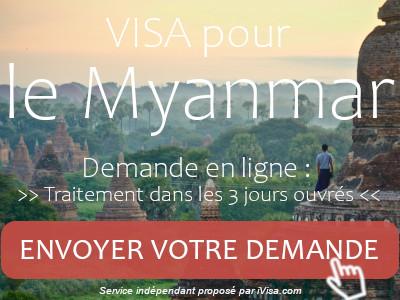 demande visa myanmar
