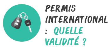 permis international validité