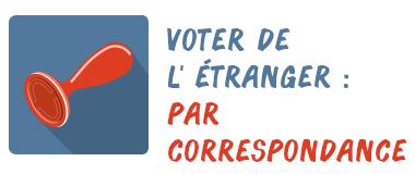 vote correspondance étranger