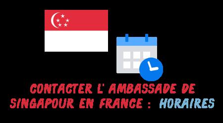 horaires ambassade singapour