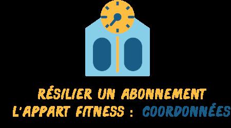 résilier abonnement l'appart fitness coordonnées