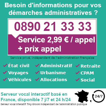 informations démarches encart